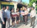 Polsek Bandar Khalifah Bantu Warga Terkena Angin Puting Beliung