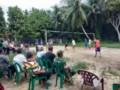 Personil TMMD Kodim 0204 Berolahraga Bersama Pemuda Sipispis