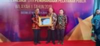 Walikota Tebingtinggi Terima Penghargaan Pelayanan Publik 2019
