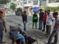 Dinas PUPR Bagian Pengairan Bersihkan Drainase Inti Kota Tebingtinggi