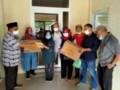 Antisipasi Dampak Covid-19, PWI Sumut Bagikan Masker dan Paket Makanan Ke Anggota