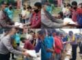 Polsek Padang Hulu Bagikan 22 Paket Sembako Kapolres Kepada Warga