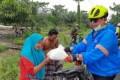 Sembari Goes Kapolres Batubara Berbagi Sembako Ke Warga Terdampak Banjir