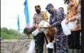 Lanal Tanjungbalai dan Kapolres Tebingtinggi Tabur Seribu Ekor Benur Udang Vaname