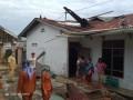 Empat Rumah Di Tebingtinggi Porak Poranda Diterjang Angin Puting Beliung