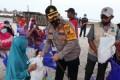 Lagi 100 Paket Bansos Dari Kapoldasu Untuk Warga Kurang Mampu Di Batubara