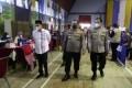 Kapolres Dan Bupati Batubara Tinjau Vaksinasi Massal Di GOR Tanjung Gading