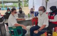 Masyarakat Antusias Ikuti Vaksinasi Di PT. Socfindo Perkebunan Tanah Gambus