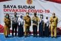 Bupati Sergai Tinjau Vaksinasi Siswa SMP Negeri 1 Sei Rampah
