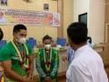 Dua Atlit Peraih Medali di Ajang PON XX Papua 2021 disambut Bupati Simalungun