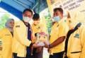 HUT ke-57, DPD Golkar Tebingtinggi Bagi Ribuan Karung Beras ke Masyarakat